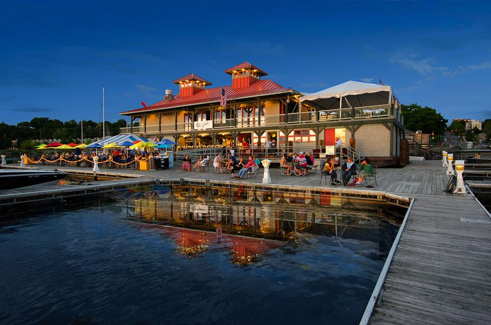 boathouse lake champlain dusk boats burlington summer outdoor ca