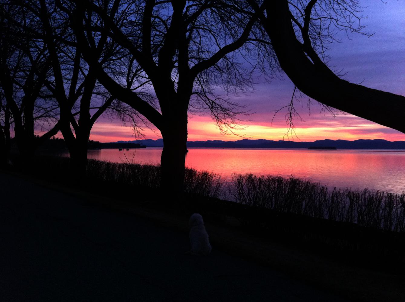 lake champlain sunset  2012af vermont
